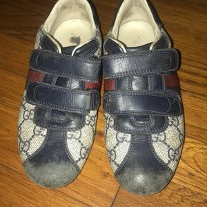 Gucci Gg supreme velcro shoes kids size 31 us13